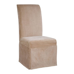 """Powell - Powell Tan Chenille Skirted """"Slip Over"""" Slipcover X-Z402-147 - Designed exclusively for our """"Slip Over"""" Seating, this soft, inviting slipcover retains its smooth fit and removes easily for cleaning or changing. The Tan Skirted """"Slip Over"""" is made from chenille - 66% rayon, 34% polyester. """"Slip Over"""" slipcovers are a perfect way to make your existing chairs different and new. For use with 741-440 chair."""