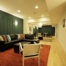 Modern Family Room by Kraig Kalashian