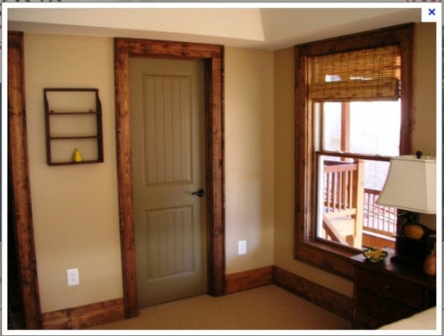 painted interior doors with stained trim