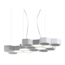 Honeycomb Light - This honeycomb light is both clean and pretty! I would love this hanging over my bed.