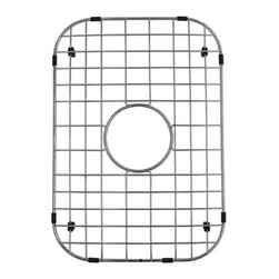 "Kingston Brass - Stainless Steel Grid for KU23189BN - To prevent damage from your sink, this stainless steel grid from Kingston Brass safeguards any harm caused from overflowing kitchen appliances (pots and pans). The grid consists of horizontal and vertical bars and slots to allow dishes and bowls to be placed rather than the surface of the sink where scratches can form. A circular gap is also designed on the platform to allow easy access to the drain before washing your kitchen appliances.; Bottom grid is constructed from premium 304 grade stainless steel; Durable PE material protective bumpers and feet included to protect sink against scratches from daily use; Sink bowl must be completely exposed for grid to better fit; Limited one year warranty designed with opening for sink strainer; Overall Dimension: (L)18-3/4""X(W)13-1/8""X(H)3/4""; Material: Stainless steel; Finish: Chrome; Collection: Loft"