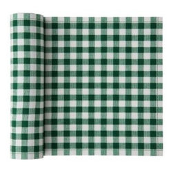 "MYdrap - Cotton Vichy Napkin, Green Vichy - Do those fresh checks say ""picnic"" to you? You're in luck: These cotton napkins come on a roll and are perfect for a festive outdoor affair. More stylish and substantial than paper napkins, they will add some cheer to your spread and won't blow away as easily. But if you do lose one, no big deal — they are intended for only up to six uses. Keep them and wash them, or discard; it's up to you."