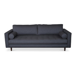 Bryght - Sven Graphite Sofa - A trendy update on a classic design, the Sven sofa with its tufted bench seat draws inspiration from the mid century era.