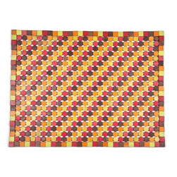 None - Muir Candy Exotic Wood Mat (1'6 x 2'6) - Crafted of exotic wood, this handsome mat will add an elegant touch to any home. This mat is durable and weather-proof making it perfect for outdoor use.