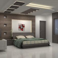 Mediterranean Bedroom by Quantom Design Studio