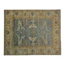 1800GetARug.com - 8'x10' Washed Out Oushak Oriental Rug 100 Percent Wool Hand Knotted Sh19031 - 8'x10' Washed Out Oushak Oriental Rug 100 Percent Wool Hand Knotted Sh19031