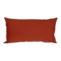 """Pillow Decor - Pillow Decor - Caravan Cotton Rust 9 x 18 Throw Pillow - Bold and beautiful, the Caravan Cotton 9 x 18 Throw Pillows are the ideal pillows for adding a simple splash of color to your decor. With 3% spandex added to improve durability and wash ability, this soft cotton pillow will provide long lasting comfort. This is a petite lumbar pillow. Measurements are based on the pillow cover when measured flat before stuffing. For a slightly more generous size, consider our 12"""" x 19"""" size."""