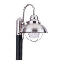 Sea Gull Lighting - Sea Gull Lighting 8269-98 Sebring Stainless Steel Outdoor Post Light - Sea Gull 8269-12 Black Outdoor Post Lighting
