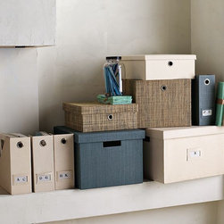 Canvas Home Office Storage - Heavyweight storage for the home office fuses color, texture and practicality.