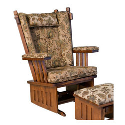Chelsea Home Furniture - Chelsea Home Hochstetler Wide Seat Glider - Bird Standard - Chelsea Home Furniture proudly offers handcrafted American made heirloom quality furniture, custom made for you.