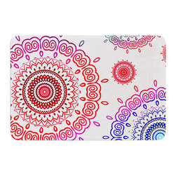 "KESS InHouse - Monika Strigel ""Rainbow Infinity"" Memory Foam Bath Mat (24"" x 36"") - These super absorbent bath mats will add comfort and style to your bathroom. These memory foam mats will feel like you are in a spa every time you step out of the shower. Available in two sizes, 17"" x 24"" and 24"" x 36"", with a .5"" thickness and non skid backing, these will fit every style of bathroom. Add comfort like never before in front of your vanity, sink, bathtub, shower or even laundry room. Machine wash cold, gentle cycle, tumble dry low or lay flat to dry. Printed on single side."