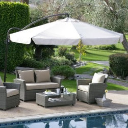 Coral Coast 11-foot Offset Umbrella with Detachable Netting - If your patio isn't under a roof, this offset umbrella is perfect.