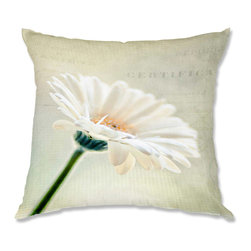 DiaNoche Designs - Pillow Linen - Sylvia Cook Daisy - Soft and silky to the touch, add a little texture and style to your decor with our Woven Linen throw pillows.. 100% smooth poly with cushy supportive pillow insert, zipped inside. Dye Sublimation printing adheres the ink to the material for long life and durability. Double Sided Print, Machine Washable, Product may vary slightly from image.
