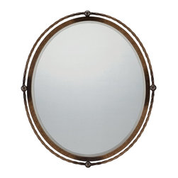 Quoizel - Quoizel QR1417 Mirror - Quoizel mirrors come in a variety of styles and finishes.  Choose from metal, painted or even pen shell, one of our popular Quoizel Naturals.  Our mirrors add that finishing touch to your home's style.