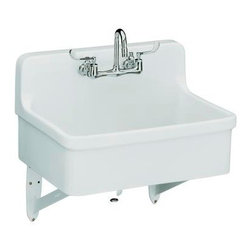 "KOHLER - KOHLER K-12787-0 Gilford Scrub-Up/Plaster Sink with Two-Hole Faucet Drilling, 30 - KOHLER K-12787-0 Gilford Scrub-Up/Plaster Sink with Two-Hole Faucet Drilling, 30"" x 22"""