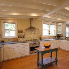Farmhouse Kitchen by Main Line Kitchen Design