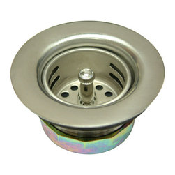 Kingston Brass - Stainless Steel Duo Strainer - The 2-13/16in. duo strainer is a bar sink application essentially used to prevent particle buildup of small gravel, deposits from entering into the drain and water line. The strainer features an easy top-mount installation and is made of stainless steel, which generally prevents surface corrosion and blocks it from spreading into the metal's internal structure. The strainer fits in all 2in. drain openings and is fabricated in solid brass to insure quality and durability as well. A one-year limited warranty is provided to the consumer from defects in material and finish.