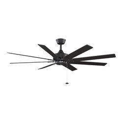 "Fanimation - Fanimation FP7910BL Levon Black 63"" Ceiling Fan - Features:"