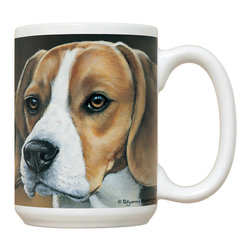 220-Beagle Mug - 15 oz. Ceramic Mug. Dishwasher and microwave safe It has a large handle that's easy to hold.  Makes a great gift!