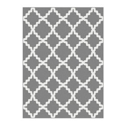 Tayse Rugs - Plush Area Rug in Gray (10 ft. 3 in. L x 7 ft. 10 in. W (41 lbs.)) - Choose Size: 10 ft. 3 in. L x 7 ft. 10 in. W (41 lbs.)Machine made. Plush and high density feel. Easy to care and durable. Vacuum and spot clean. Made from polypropylene. Pile height: 0.39 in.Contemporary home decor frieze area rug features exotic and delightful Moroccan-influenced lattice design on relevant colors. Offers versatility for an interesting addition to either traditional or contemporary home decor.