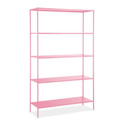 Slim Étagère, Blossom - Shelves practically disappear beneath towering stacks of books, so why not make the color of your shelving a fun one? These simple frames come in tons of bright colors, and their clean lines will fit in anywhere.