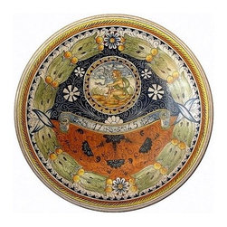 Artistica - Hand Made in Italy - Majolica: Large Wall Plate with Putto (22D.) - Majolica Collection: