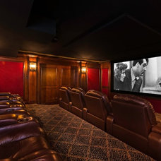 Traditional Home Theater by Fredericksburg Custom Homes