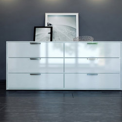 Mod Loft Thompson Dresser - *Thompson dresser has six-drawer with chrome handles.
