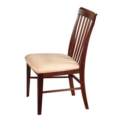 Atlantic Furniture - Atlantic Furniture Montreal Side Chair in Antique Walnut (Set of 2) - Atlantic Furniture - Dining Chairs - AD774104 - The Atlantic Furniture Montreal Dining Side Chairs are constructed from Eco-friendly solid hardwood and have an elegant Antique Walnut wood finish. This set of two dining side chairs feature a vertical slat back design and an Oatmeal colored seat cushion. The Montreal Dining Side Chairs are perfect for a casual dining room setting.