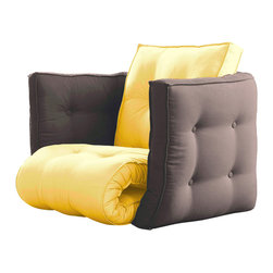 Karup Design - Karup Design Dice Chair, Amarillo-Gris - The Dice designed to let you configure and reconfigure your own perfect seating solution. Stick with your favorite or switch it up in.