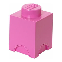LEGO - LEGO Storage Brick 1, Medium Pink - Let your child tidy up with a smile using our Lego Storage Bricks in medium pink, where you can lift off the top to reveal storage space for small toys, regular bricks and building accessories. So just decorate, play, build, form and have fun with the boxes.