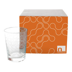Apt2B - Link Street Glasses, Old Fashioned, Set of 4 - For a little finger-full of spirits, an old fashion–size glass can't be beat. This set features an etched link pattern on the exterior for a subtle detail that won't detract from the drink within.