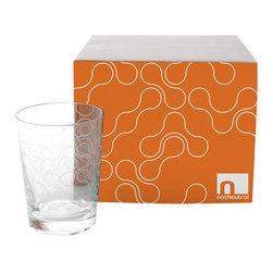 Apt2B - Link Street Glasses, Old-Fashioned - For a little finger-full of spirits, an old fashion–size glass can't be beat. This set features an etched link pattern on the exterior for a subtle detail that won't detract from the drink within.