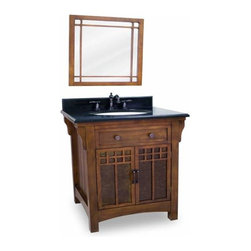 Lyn Design - Lyn Design Wescot Wright 28 X 35 1/4 Chestnut Vanity Top/Bowl - Lyn Design Wescot Wright 28 X 35 1/4 Chestnut Vanity Top/Bowl