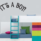 It's a Boy Vinyl Wall Decal ce007itsaboyviii, Matte White, 72 in. - Vinyl Wall Quotes are an awesome way to bring a room to life!