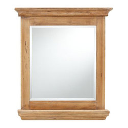 Mason Reclaimed Wood Mirror with Shelf - I love the weathered wood on this mirror.