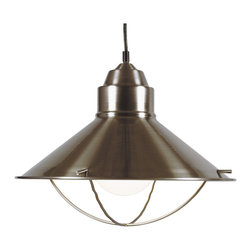 None - Olinda 1-Light Indoor Pendant - Inspired by nautical lanterns, these pendants are a beautiful addition to any kitchen. This pendant subtly complement sink fixtures and cabinet hardware.