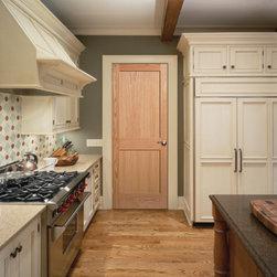 Wood Doors - 2 panel flat shaker door from HomeStory Doors