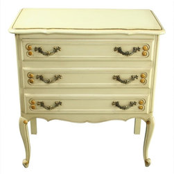 EuroLux Home - Consigned Vintage 1970 French Country Chest of Drawers - Product Details