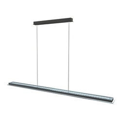 Eglo - Eglo 91079A Mysterio 1x28.2W LED Linear Pendant - Eglo 91079A Mysterio 1x28.2W LED Linear Pendant with Remote Integrated Color Changer in Aluminum and Chrome FinishEglo 91079A Features: