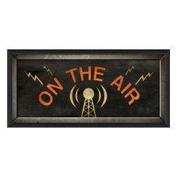 The Artwork Factory - On the Air II Framed Artwork - Light up the airwaves in your home when you hang this celebration of vintage radio on your wall. The perfect piece for a budding musician or NPR-lover, this elegantly framed print is positively sonic.
