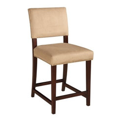 Linon Corey Bar Stool - Stone