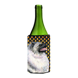 Caroline's Treasures - Keeshond Candy Corn Halloween Portrait Wine Bottle Koozie Hugger - Keeshond Candy Corn Halloween Portrait Wine Bottle Koozie Hugger Fits 750 ml. wine or other beverage bottles. Fits 24 oz. cans or pint bottles. Great collapsible koozie for large cans of beer, Energy Drinks or large Iced Tea beverages. Great to keep track of your beverage and add a bit of flair to a gathering. Wash the hugger in your washing machine. Design will not come off.