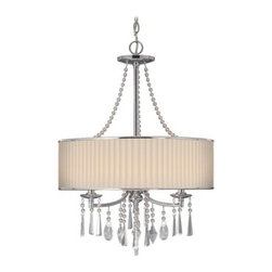 Golden Lighting - Golden Lighting 8981-3P Three Light Pendant from the Echelon Collection - Transitional Three Light Pendant from the Echelon CollectionThe Echelon Three Light Pendant provides chic transitional styling with the option of either a graceful feminine shade or a more masculine shade.Features