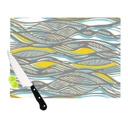 """Kess InHouse - Gill Eggleston """"Drift"""" Cutting Board (11.5"""" x 15.75"""") - These sturdy tempered glass cutting boards will make everything you chop look like a Dutch painting. Perfect the art of cooking with your KESS InHouse unique art cutting board. Go for patterns or painted, either way this non-skid, dishwasher safe cutting board is perfect for preparing any artistic dinner or serving. Cut, chop, serve or frame, all of these unique cutting boards are gorgeous."""
