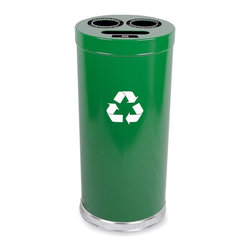 Witt Industries - Witt Industries Combination 24 Gallon Green Recycling Bin - 15RTGN - Shop for Recycling Bins from Hayneedle.com! Additional FeaturesIncludes recycling labels to clearly mark your binLid is easy to put on and lift offDurable steel construction24-gallon recycling binEncourage recycling in the work place with the classic Witt Industries Combination 24-Gallon Green Recycling Bin. Designed to help you customize your recycling program this bin includes a lid with three openings as well as 3 separate plastic liners which make it easy to keep your recyclable waste from getting mixed up. Made for bottles cans glass paper or plastic and constructed from steel for longevity this bin holds up to 24 gallons and comes with labels to clearly mark the bin for recycling.About Witt IndustriesWith its rich and established history in the steel waste receptacle manufacturing industry that dates back to 1887 Witt Industries has been in the forefront with its innovation quality and service. The company's founder George Witt invented and patented the first corrugated galvanized ash can and lid back in 1889 and the company has never looked back. Today Witt Industries is part of the Armor Metal Group and is a woman-owned business.