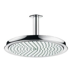 """Hansgrohe - Hansgrohe 28427001 Chrome Raindance C Raindance C Rain Shower Head - Raindance C Rain Shower Head with 10"""" Spray Face10"""" spray face Solid brass AIR-injection technology 1/2"""" female inlet 180 no-clog spray channels"""