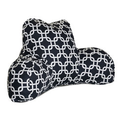 Outdoor Black Links Reading Pillow