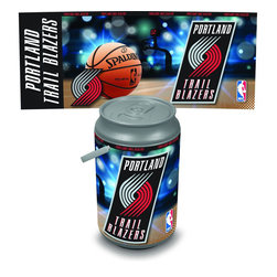 Picnic Time - Sacramento Kings Bongo Cooler - The Extra large Can Cooler by Picnic Time is a hard-sided cooler and large beverage can replica that also doubles as a seat. It holds twenty seven 12-oz. cans and has a 5 gallon capacity. It features a snugly fitting, fully removable lid and folding handle. Perfect for the beach, patio, tailgating, parties, and sporting events. Made of HDPE.; Decoration: Digital Print; Includes: 1 removable lid