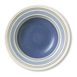 Pfaltzgraff - Pfaltzgraff Rio Wide Rim Soup Bowl Multicolor - 57001200 - Shop for Bowls from Hayneedle.com! You'll love how the grand beauty of the Pfaltzgraff Rio Wide Rim Soup Bowl adds a cool touch to your tablescape. The stoneware design features blue stripes in varying textures and shades for an interesting look. Microwave- and dishwasher-safe this bowl as easy to use as it is on the eyes.About PfaltzgraffWhen the name Pfaltzgraff is spoken people think of fine ceramics for the home and beautiful dinnerware for their table. For nearly 200 years the Pfaltzgraff brand has been associated with the highest quality of ceramic products. The company has grown from a little pottery shop that produced simple earthenware salt-glazed stoneware crocks and even flower pots into one of the most beloved designers and marketers of dinnerware drinkware ceramic accessories giftware and other products.